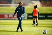 5 April 2021; Megan Connolly during a Republic of Ireland WNT training session at FAI National Training Centre in Dublin. Photo by David Fitzgerald/Sportsfile