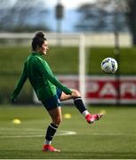 5 April 2021; Keeva Keenan during a Republic of Ireland WNT training session at FAI National Training Centre in Dublin. Photo by David Fitzgerald/Sportsfile
