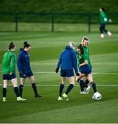 5 April 2021; A general view during a Republic of Ireland WNT training session at FAI National Training Centre in Dublin. Photo by David Fitzgerald/Sportsfile