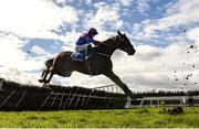 5 April 2021; Ellie Mac, with Rachael Blackmore up, jumps the last, first time round, before pulling up in the Fairyhouse Steel Handicap Hurdle during day three of the Fairyhouse Easter Festival at the Fairyhouse Racecourse in Ratoath, Meath. Photo by Harry Murphy/Sportsfile