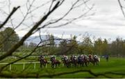 7 April 2021; A general view of runners and riders during the Good Enuf To Eat Catering Handicap at Gowran Park Racecourse in Kilkenny. Photo by Harry Murphy/Sportsfile
