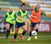 7 April 2021; Keeva Keenan during a Republic of Ireland training session at Tallaght Stadium in Dublin. Photo by Stephen McCarthy/Sportsfile