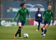 7 April 2021; Niamh Fahey during a Republic of Ireland training session at Tallaght Stadium in Dublin. Photo by Stephen McCarthy/Sportsfile