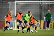7 April 2021; Emily Whelan during a Republic of Ireland training session at Tallaght Stadium in Dublin. Photo by Stephen McCarthy/Sportsfile