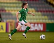 8 April 2021; Emily Whelan of Republic of Ireland during the women's international friendly match between Republic of Ireland and Denmark at Tallaght Stadium in Dublin. Photo by Stephen McCarthy/Sportsfile