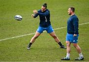 9 April 2021; James Lowe during the Leinster Rugby captain's run at Sandy Park in Exeter, England. Photo by Ramsey Cardy/Sportsfile
