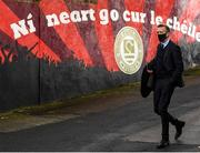 9 April 2021; FAI Chief Executive Jonathan Hill arrive before the SSE Airtricity League Premier Division match between St Patrick's Athletic and Derry City at Richmond Park in Dublin. Photo by Harry Murphy/Sportsfile