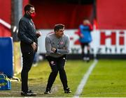 9 April 2021; Derry City manager Declan Devine during the SSE Airtricity League Premier Division match between St Patrick's Athletic and Derry City at Richmond Park in Dublin. Photo by Harry Murphy/Sportsfile