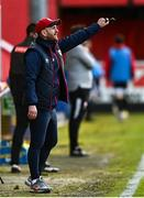 9 April 2021; St Patrick's Athletic head coach Stephen O'Donnell during the SSE Airtricity League Premier Division match between St Patrick's Athletic and Derry City at Richmond Park in Dublin. Photo by Harry Murphy/Sportsfile