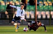 9 April 2021; Han Jeongwoo of Dundalk in action against James Finnerty of Bohemians during the SSE Airtricity League Premier Division match between Dundalk and Bohemians at Oriel Park in Dundalk, Louth. Photo by Stephen McCarthy/Sportsfile