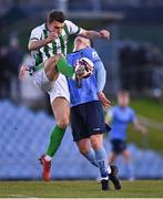 9 April 2021; Darren Cravan of Bray Wanderers in action against Evan Weir of UCD during the SSE Airtricity League First Division match between UCD and Bray Wanderers at the UCD Bowl in Belfield, Dublin. Photo by Piaras Ó Mídheach/Sportsfile