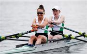 10 April 2021; Margaret Cremen, left, and Aoife Casey of Ireland compete in their A/B semi-final of the Lightweight Women's Double Sculls during Day 2 of the European Rowing Championships 2021 at Varese in Italy. Photo by Roberto Bregani/Sportsfile