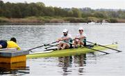 10 April 2021; Paul O'Donovan, left, and Fintan McCarthy of Ireland leave the start of their A/B semi-final of the Lightweight Men's Double Sculls during Day 2 of the European Rowing Championships 2021 at Varese in Italy. Photo by Roberto Bregani/Sportsfile