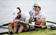 10 April 2021; Fintan McCarthy, right, and Paul O'Donovan of Ireland before their A/B semi-final of the Lightweight Men's Double Sculls during Day 2 of the European Rowing Championships 2021 at Varese in Italy. Photo by Roberto Bregani/Sportsfile