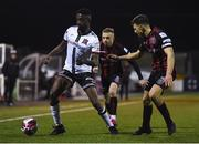 9 April 2021; Junior Ogedi-Uzokwe of Dundalk and Keith Buckley of Bohemians during the SSE Airtricity League Premier Division match between Dundalk and Bohemians at Oriel Park in Dundalk, Louth. Photo by Ben McShane/Sportsfile