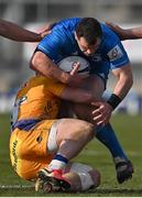 10 April 2021; Cian Healy of Leinster is tackled by Sam Simmonds of Exeter Chiefs during the Heineken Champions Cup Pool Quarter-Final match between Exeter Chiefs and Leinster at Sandy Park in Exeter, England. Photo by Ramsey Cardy/Sportsfile