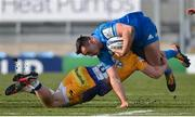 10 April 2021; Rónan Kelleher of Leinster is tackled by Sam Simmonds of Exeter Chiefs during the Heineken Champions Cup Pool Quarter-Final match between Exeter Chiefs and Leinster at Sandy Park in Exeter, England. Photo by Ramsey Cardy/Sportsfile