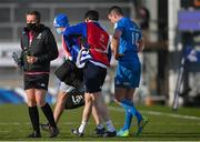 10 April 2021; Jonathan Sexton of Leinster leaves the pitch for a head injury assessment during the Heineken Champions Cup Pool Quarter-Final match between Exeter Chiefs and Leinster at Sandy Park in Exeter, England. Photo by Ramsey Cardy/Sportsfile