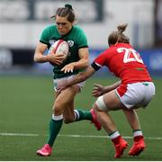 10 April 2021; Beibhinn Parsons of Ireland is tackled by Bethan Dainton of Wales during the Women's Six Nations Rugby Championship match between Wales and Ireland at Cardiff Arms Park in Cardiff, Wales. Photo by Chris Fairweather/Sportsfile