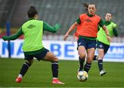 10 April 2021; Katie McCabe during a Republic of Ireland Women training session at King Baudouin Stadium in Brussels, Belgium. Photo by David Stockman/Sportsfile