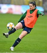10 April 2021; Emily Whelan during a Republic of Ireland Women training session at King Baudouin Stadium in Brussels, Belgium. Photo by David Stockman/Sportsfile