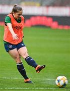 10 April 2021; Ellen Molloy during a Republic of Ireland Women training session at King Baudouin Stadium in Brussels, Belgium. Photo by David Stockman/Sportsfile