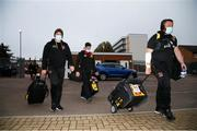 10 April 2021; Ulster players, including Ian Madigan, left, arrive before the Heineken Challenge Cup Quarter-Final match between Northampton Saints and Ulster at Franklin's Gardens in Northampton, England. Photo by Matt Impey/Sportsfile