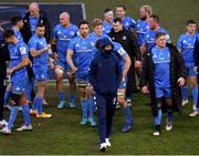 10 April 2021; Leinster captain Jonathan Sexton, front, and team-mates following their side's victory in the Heineken Champions Cup Pool Quarter-Final match between Exeter Chiefs and Leinster at Sandy Park in Exeter, England. Photo by Ramsey Cardy/Sportsfile