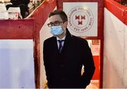 9 April 2021; Shelbourne CEO Dave O'Connor during the SSE Airtricity League First Division match between Shelbourne and Wexford at Tolka Park in Dublin. Photo by Eóin Noonan/Sportsfile