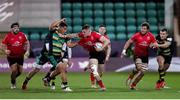 10 April 2021; Jacob Stockdale of Ulster is tackled by Sam Matavesi of Northampton Saints during the Heineken Challenge Cup Quarter-Final match between Northampton Saints and Ulster at Franklin's Gardens in Northampton, England. Photo by Matt Impey/Sportsfile