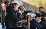 10 April 2021; Leinster head coach Leo Cullen issues instructions during the Heineken Champions Cup Pool Quarter-Final match between Exeter Chiefs and Leinster at Sandy Park in Exeter, England. Photo by Ramsey Cardy/Sportsfile
