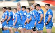 10 April 2021; Cian Healy and Leinster teammates prior to the Heineken Champions Cup Pool Quarter-Final match between Exeter Chiefs and Leinster at Sandy Park in Exeter, England. Photo by Ramsey Cardy/Sportsfile