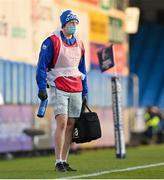 10 April 2021; Leinster head physiotherapist Garreth Farrell during the Heineken Champions Cup Pool Quarter-Final match between Exeter Chiefs and Leinster at Sandy Park in Exeter, England. Photo by Ramsey Cardy/Sportsfile