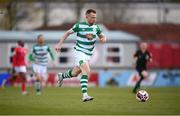 10 April 2021; Sean Hoare of Shamrock Rovers during the SSE Airtricity League Premier Division match between Sligo Rovers and Shamrock Rovers at The Showgrounds in Sligo. Photo by Stephen McCarthy/Sportsfile