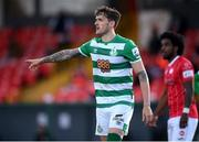 10 April 2021; Lee Grace of Shamrock Rovers during the SSE Airtricity League Premier Division match between Sligo Rovers and Shamrock Rovers at The Showgrounds in Sligo. Photo by Stephen McCarthy/Sportsfile