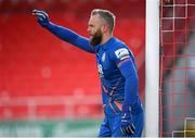 10 April 2021; Shamrock Rovers goalkeeper Alan Mannus during the SSE Airtricity League Premier Division match between Sligo Rovers and Shamrock Rovers at The Showgrounds in Sligo. Photo by Stephen McCarthy/Sportsfile