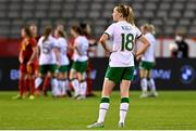 11 April 2021; Claire Walsh of Republic of Ireland reacts following her side's defeat in the women's international friendly match between Belgium and Republic of Ireland at King Baudouin Stadium in Brussels, Belgium. Photo by David Catry/Sportsfile