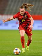 11 April 2021; Davinia Vanmechelen of Belgium during the women's international friendly match between Belgium and Republic of Ireland at King Baudouin Stadium in Brussels, Belgium. Photo by David Catry/Sportsfile