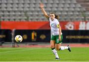 11 April 2021; Katie McCabe of Republic of Ireland during the women's international friendly match between Belgium and Republic of Ireland at King Baudouin Stadium in Brussels, Belgium. Photo by David Catry/Sportsfile