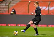 11 April 2021; Republic of Ireland goalkeeper Courtney Brosnan during the women's international friendly match between Belgium and Republic of Ireland at King Baudouin Stadium in Brussels, Belgium. Photo by David Catry/Sportsfile