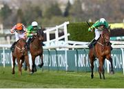 10 April 2020; Minella Times, with Rachael Blackmore up, on their way to winning the Randox Grand National at the Aintree Racecourse in Liverpool, England. Photo by Hugh Routledge/Sportsfile