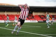 13 April 2021; David Parkhouse of Derry City reacts after a missed opportunity on goal during the SSE Airtricity League Premier Division match between Derry City and Shamrock Rovers at the Ryan McBride Brandywell Stadium in Derry. Photo by Stephen McCarthy/Sportsfile