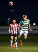 13 April 2021; Liam Scales of Shamrock Rovers during the SSE Airtricity League Premier Division match between Derry City and Shamrock Rovers at the Ryan McBride Brandywell Stadium in Derry. Photo by Stephen McCarthy/Sportsfile