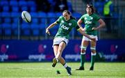 17 April 2021; Hannah Tyrrell of Ireland kicks a penalty during the Women's Six Nations Rugby Championship match between Ireland and France at Energia Park in Dublin. Photo by Sam Barnes/Sportsfile