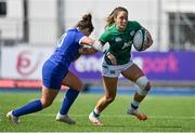 17 April 2021; Eimear Considine of Ireland is tackled by Carla Neisen of France during the Women's Six Nations Rugby Championship match between Ireland and France at Energia Park in Dublin. Photo by Sam Barnes/Sportsfile