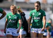 17 April 2021; Dejected Ireland players Kathryn Dane, left, and Eimear Considine after the Women's Six Nations Rugby Championship match between Ireland and France at Energia Park in Dublin. Photo by Sam Barnes/Sportsfile