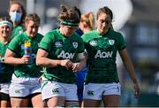 17 April 2021; Dejected Ireland captain Ciara Griffin, left, and Eimear Considine after the Women's Six Nations Rugby Championship match between Ireland and France at Energia Park in Dublin. Photo by Sam Barnes/Sportsfile