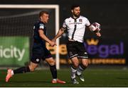 17 April 2021; Patrick Hoban of Dundalk in action against Jamie Lennon of St Patrick's Athletic during the SSE Airtricity League Premier Division match between Dundalk and St Patrick's Athletic at Oriel Park in Dundalk, Louth. Photo by Ben McShane/Sportsfile