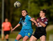 17 April 2021; Aoife Brophy of DLR Waves in action against Lynsey McKey of Galway Women during the SSE Airtricity Women's National League match between DLR Waves and Galway Women at UCD Bowl in Belfield, Dublin. Photo by Matt Browne/Sportsfile