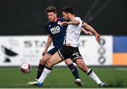 17 April 2021; Patrick Hoban of Dundalk in action against Sam Bone of St Patrick's Athletic during the SSE Airtricity League Premier Division match between Dundalk and St Patrick's Athletic at Oriel Park in Dundalk, Louth. Photo by Ben McShane/Sportsfile